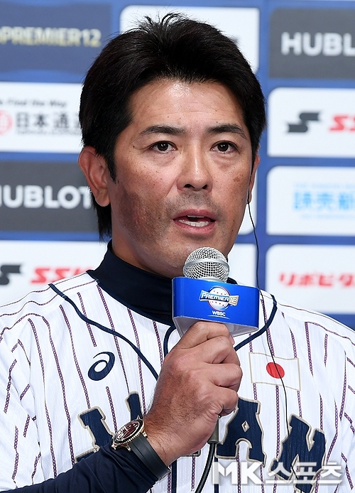이나바 아쓰노리 감독은 2020 도쿄 올림픽에서 일본 야구대표팀을 이끈다. 사진=천정환 기자