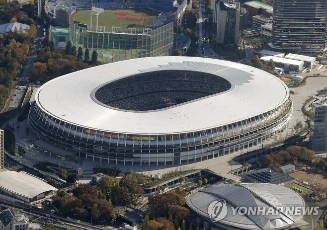 도쿄올림픽 주경기장으로 건설된 일본 국립경기장 [교도=연합뉴스 자료사진]