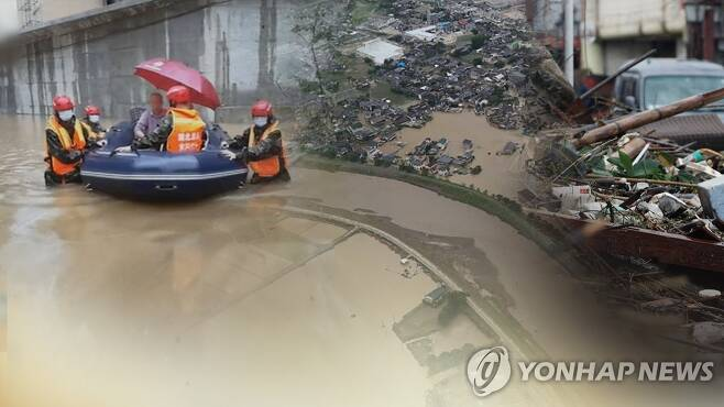 중국·일본 기록적 폭우…인명·재산피해 잇따라 (CG) [연합뉴스TV 제공]