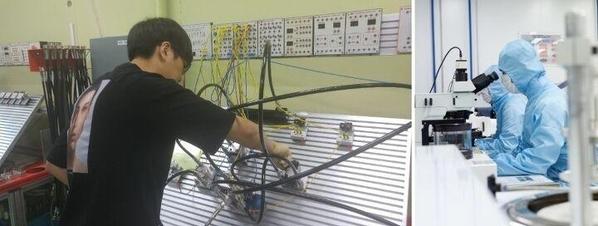 폴리텍대 재학 시절 이장호 씨(왼쪽)와 폴리텍대 청주캠퍼스 반도체시스템과 이미지 /본인 제공