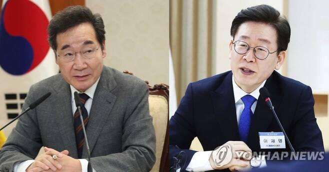 이낙연  더불어민주당 의원(왼쪽)과 이재명 경기도지사 [촬영 김승두(왼쪽), 홍기원]
