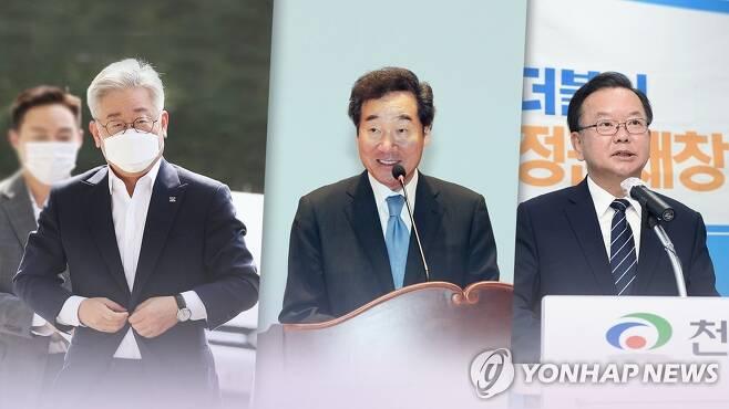 기사회생 이재명, 김부겸과 '이낙연 견제' 연대할까 (CG) [연합뉴스TV 제공]