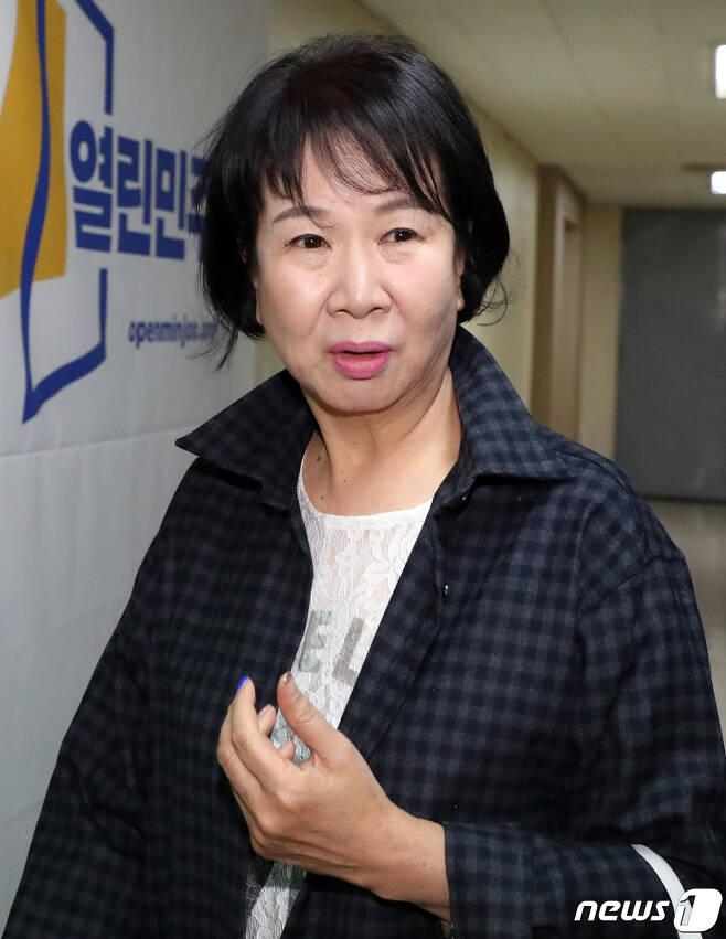 손혜원 열린민주당 최고위원. © News1 김명섭 기자