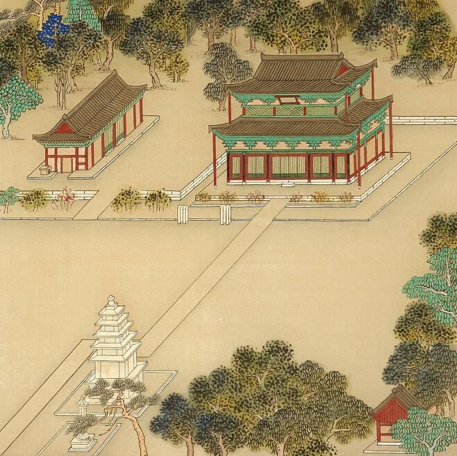 한국전통문화대학교 김은정-만수산 무량사(萬壽山 無量寺)-견본채색, 30×30cm, 2020
