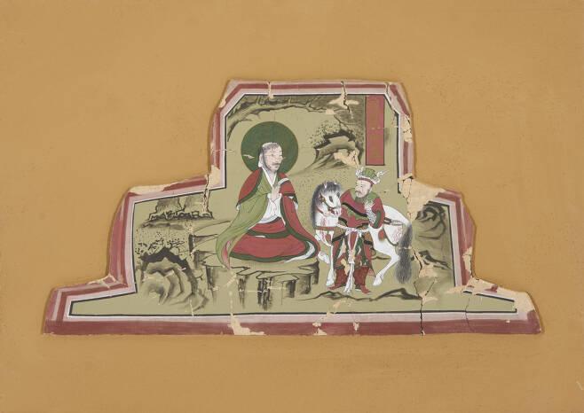 한국전통문화대학교 김혜리-통도사 영산전 포벽(通度寺 靈山殿 包壁)-토벽채색, 53×72cm, 2018
