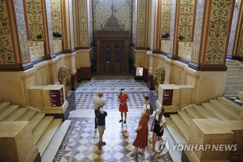 최근 재개관한 모스크바 국립 역사박물관의 모습. [타스=연합뉴스]