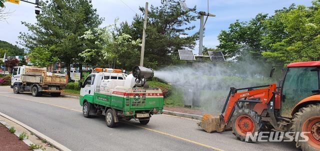 말라리아 방역소독 차량. (사진=파주시 제공)