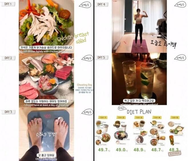 한예슬은 지난 27일 자신의 유튜브 채널 '한예슬 is'를 통해 다이어트 비법을 공개했다. /사진=한예슬 인스타그램 캡처