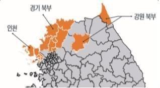 말라리아 환자 주요 발생지역 [질병관리본부 제공. 재판매 및 DB금지]