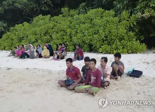 25일 밤 말레이 인근 해역서 실종됐던 로힝야족 난민 26명 [AP=연합뉴스]