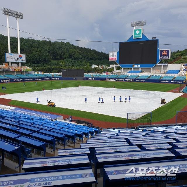 30일 오후 3시, 비가 그치고 해가 나기 시작한 라이온즈파크. 대구=정현석 기자 hschung@sportschosun.com