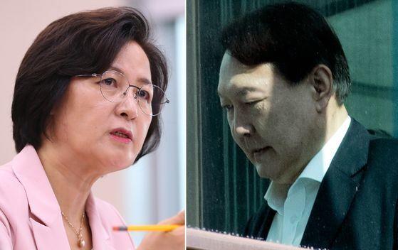 추미애(왼쪽) 법무부 장관, 윤석열 검찰총장. [연합뉴스]