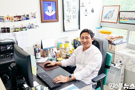 후배 양성에 힘쓰고 있는 용인대학교 전기영 교수(사진=엠스플뉴스 이근승 기자)
