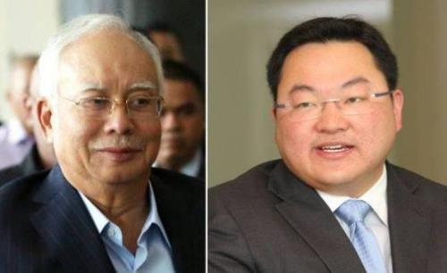 나집 전 말레이시아 총리(좌)와 금융업자 조 로우(우)
