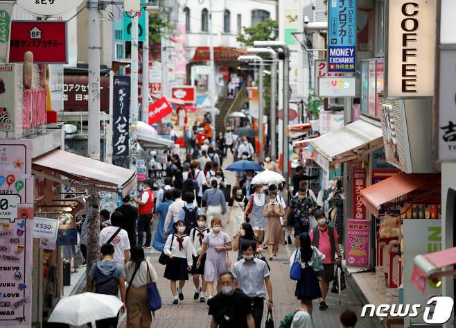29일 도쿄 시부야구 다케시타 거리의 풍경. © 로이터=뉴스1