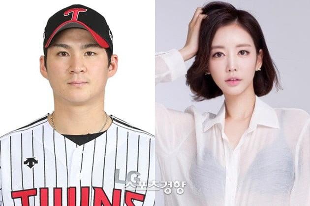 LG트윈스 오지환 선수와 아내 김영은씨, 롯데홈쇼핑 제공