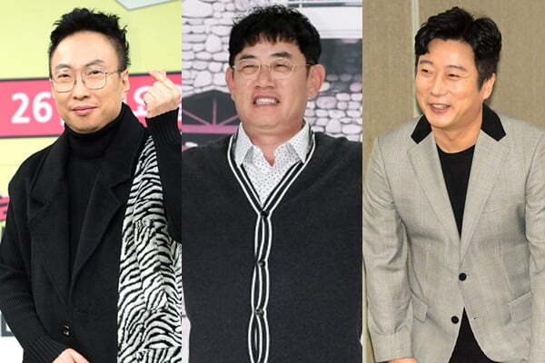 개그맨 박명수(왼쪽부터), 이경규, 이수근/ 사진=텐아시아DB
