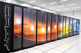 기상청이 2014년 11월 569억원을 들여 도입한 수퍼컴퓨터 4호기. /기상청
