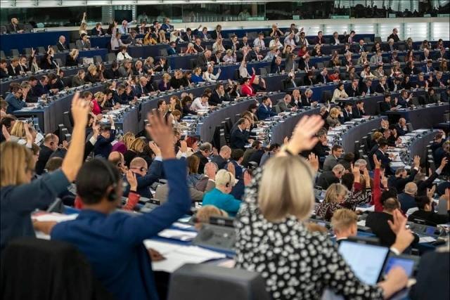 지난해 10월 유럽연합의회 모습. / 사진=심상정 정의당 대표 SNS.