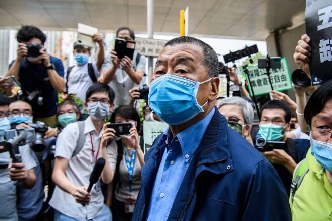 홍콩 언론계의 거물 빈과일보 사주 지미 라이./사진=AFP