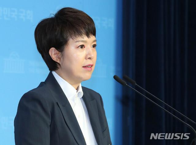 [서울=뉴시스] 장세영 기자 = 김은혜 미래통합당 대변인.  2020.08.12. photothink@newsis.com