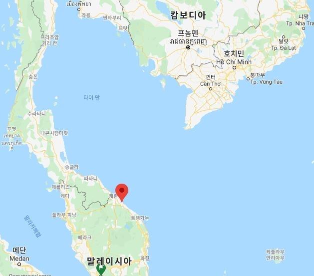 말레이시아 클라탄주와 베트남 위치 [구글맵]