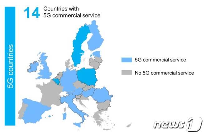 유럽 국가 중 5G 상용화 국가 © 뉴스1
