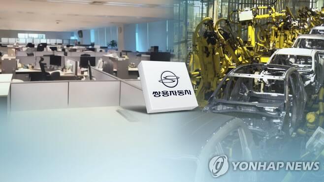 쌍용차 생사기로 (CG) [연합뉴스TV 제공]