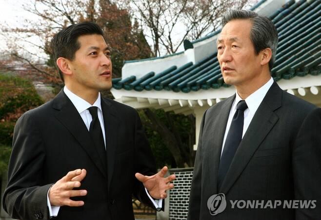 홍정욱·정몽준 전 의원 [연합뉴스 자료사진]