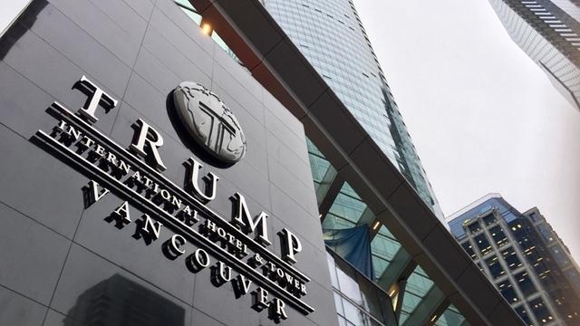 [서울=뉴시스]파산을 신청한 캐나다 밴쿠버의 트럼프 인터내셔널 호텔. <사진 출처 : 캐나다 CTV> 2020.8.29