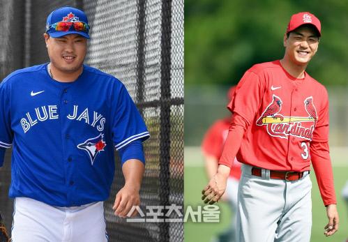 류현진(왼쪽)과 김광현. 사진 | 최승섭기자 thunder@sportsseoul.com