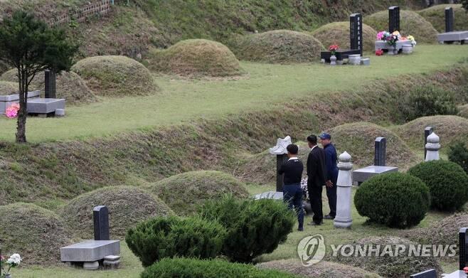 지난해 9월 춘천공원묘원 [연합뉴스 자료 사진]
