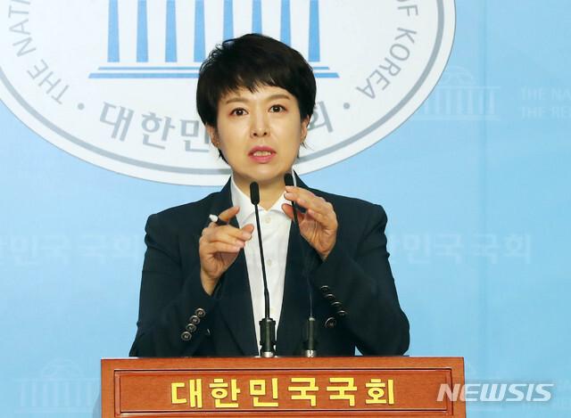 [서울=뉴시스] 장세영 기자 = 김은혜 국민의힘 대변인.  2020.08.12. photothink@newsis.com
