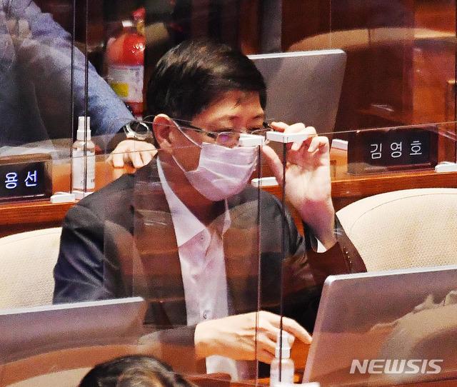 [서울=뉴시스]김진아 기자 = 김홍걸 의원. 2020.09.16.  photo@newsis.com