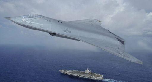 미국 방산업체 노스롭 그루먼이 구상중인 미 해군 6세대 전투기 상상도. 노스롭 그루먼 제공