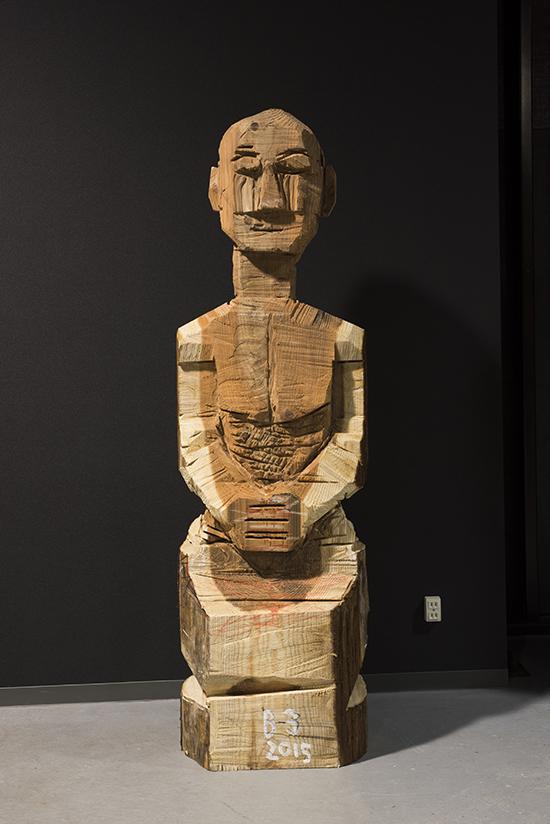 서용선 작 `붓다1` 170 x49x41cm,삼나무(2015)