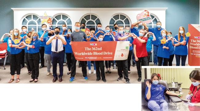 미국 유타주 솔트레이크시티에서 열린 헌혈행사. 코로나19로 헌혈자가 감소한 요즘 혈액 수급 안정화에 도움을 주었다.