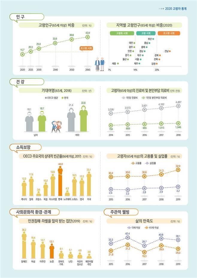 2020 고령자 통계.(통계청 제공)© 뉴스1