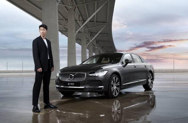 손흥민은 볼보자동차 홍보대사 겸 신형 S90 광고 모델이다. /사진제공=볼보자동차코리아