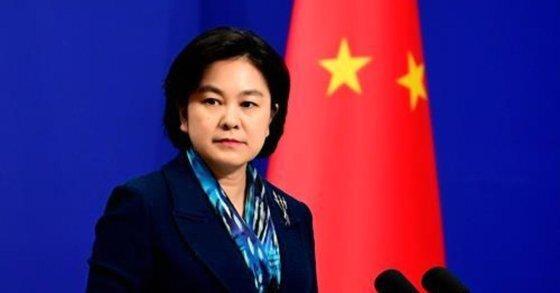 화춘잉 중국 외교부 대변인. [사진 중국 외교부 웹페이지]