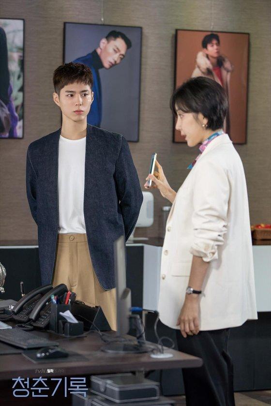 사혜준의 모델비를 떼먹은 악덕 에이전시 대표에게 항의하는 모습. [사진 tvN]