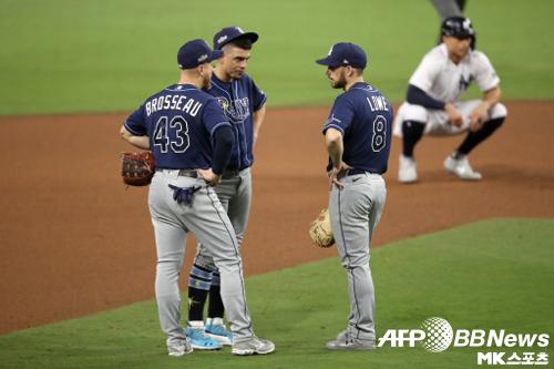 탬파베이 선수단은 전날 경기를 패한 뒤에도 음악을 틀었다. 사진=ⓒAFPBBNews = News1