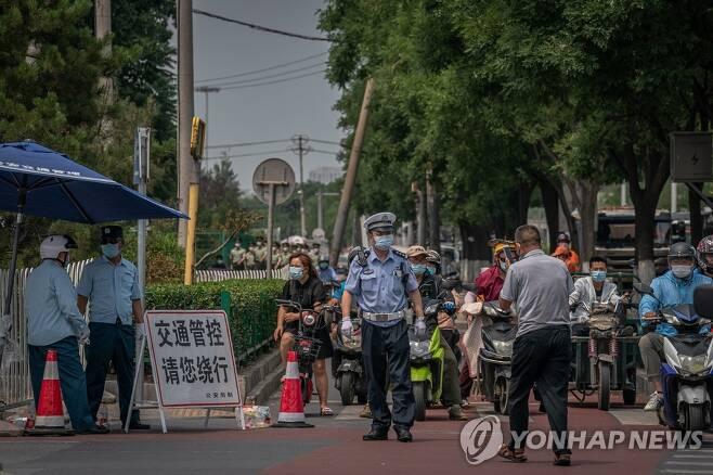 지난 6월 코로나19로 폐쇄됐던 베이징 신파디 도매시장 (베이징 EPA=연합뉴스)