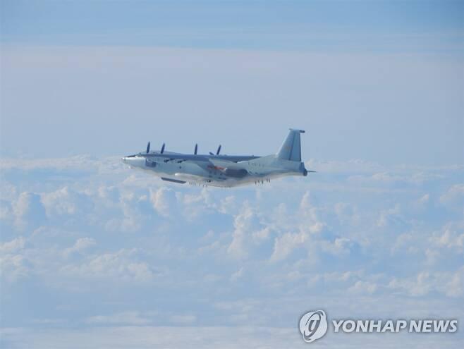 대만 방공식별구역 진입한 중국군 Y-8CD 전자전기 [대만 국방부 홈페이지 캡처. 재판매 및 DB 금지]
