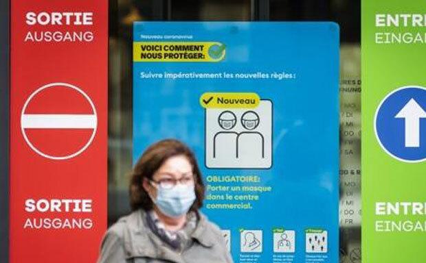 마스크를 쓴 스위스 프리부르 시민./사진=AP 연합뉴스