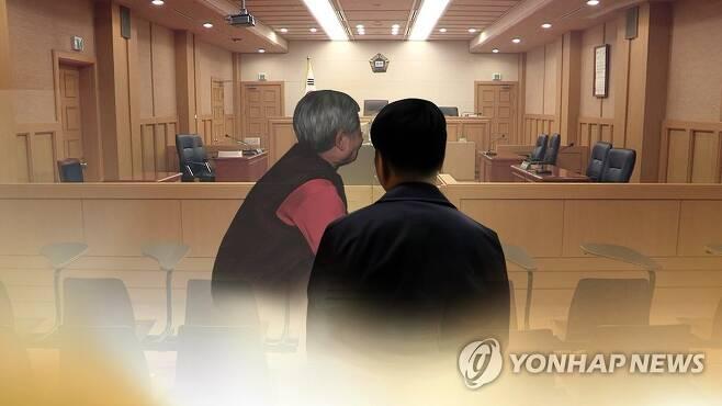 법정 노모(CG) [연합뉴스TV 제공. 재판매 및 DB 금지]