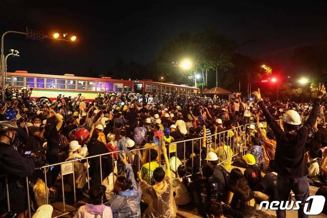 태국 시위. © AFP=뉴스1