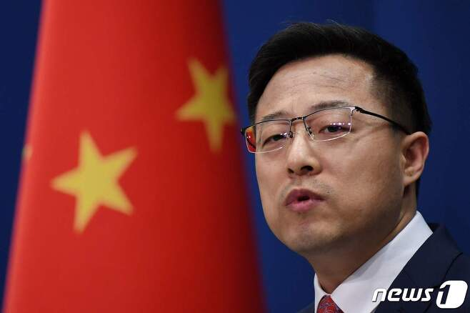 자오리젠 중국 외교부 대변인 <자료사진> © AFP=뉴스1