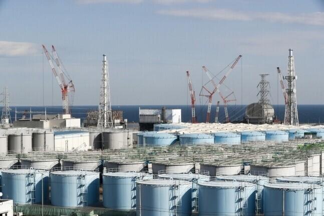 일본 후쿠시마 오염수 탱크. 연합뉴스