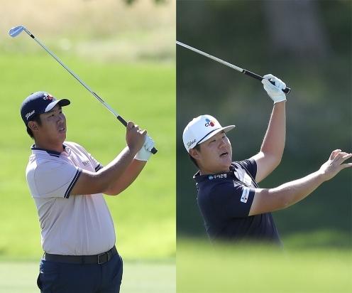 2020년 미국프로골프(PGA) 투어 조조 챔피언십에 출전한 안병훈, 임성재 프로. 사진제공=Getty Image for THE CJ CUP